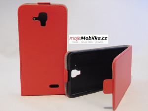 Pouzdro Forcell Slim Flip 2 flexi Lenovo A536 Červené