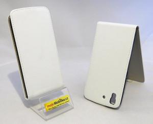 Pouzdro ForCell Slim 2 Flip Flexi Huawei Ascend Y6 Bílé