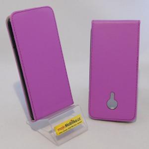 Pouzdro ForCell Slim Flip Flexi Meizu MX5 Světle fialové