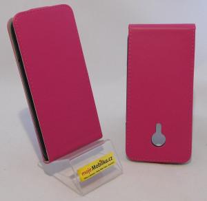 Pouzdro Forcell Slim Flip flexi Meizu MX5 Růžové
