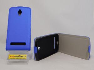 Pouzdro Forcell Slim Flip flexi Asus Zenfone C Tmavě Modré