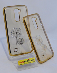 Pouzdro Diamonds TPU LG K10 Pampeliška