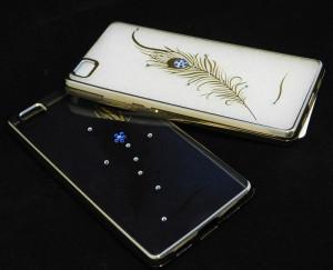 Pouzdro Diamonds TPU Huawei Ascend P8 Lite Peříčko