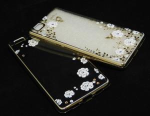 Pouzdro Diamonds TPU Huawei Ascend P8 Lite Květiny
