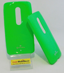 Pouzdro Jelly Case pro Lenovo Moto X Play XT1562 Zelené