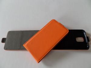Pouzdro Forcell Slim Flip Flexi Microsoft Lumia 535 Oranžové