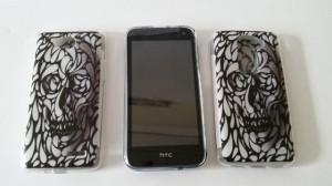 Pouzdro Back Case Art Skull pro HTC Desire 310