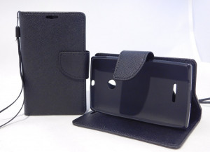 Pouzdro TEL1 Fancy Diary Microsoft Lumia 435 Černé