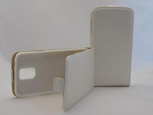 Pouzdro Forcell Slim Flip Flexi Samsung G900 G903 Galaxy S5 Bílé
