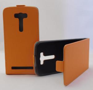 Pouzdro ForCell Slim Flip Flexi Asus ZenFone 2 Laser ZE500KL Oranžové