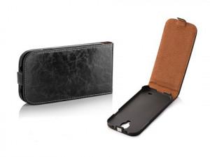 Pouzdro Toscana Elegance pro Samsung i9190/i9195 Galaxy S4 mini Black