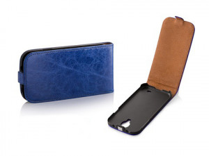 Pouzdro Toscana Elegance pro HTC Desire 500 Blue