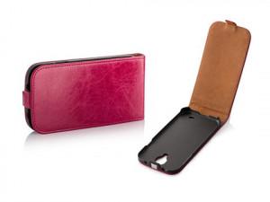Pouzdro Toscana Elegance pro Samsung i9505 Galaxy S4 Pink