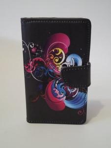 Pouzdro Flower Book Case Black Samsung N9005 Galaxy Note 3