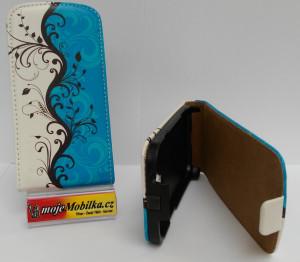 Pouzdro ForCell Slim flip Samsung S7562/S7560 Blue design