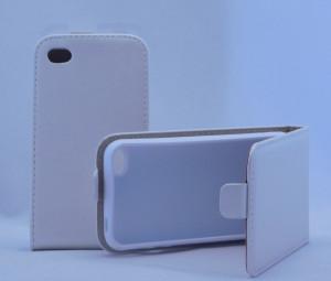 Pouzdro ForCell Flip Flexi Iphone 4S Bílé