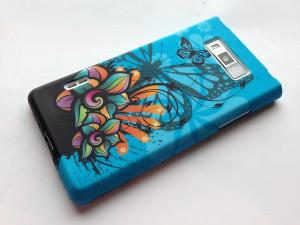 Pouzdro JELLY CASE Nokia Lumia 520 modré s motivem