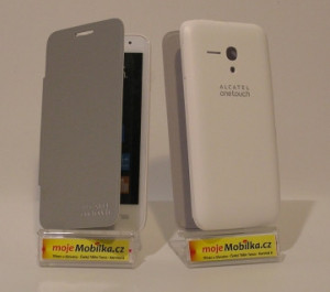 Pouzdro Alcatel flip ONETOUCH 5038D POP D5 bílé