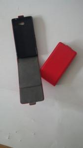 Pouzdro ForCell Slim Flip Flexi Sony Xperia M2 D2303 Červené