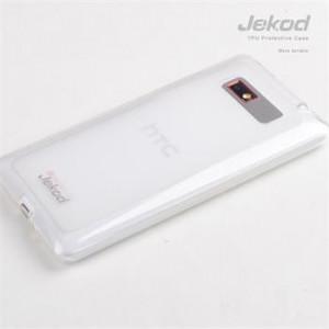 JEKOD TPU Ochranné Pouzdro White pro HTC Desire 600