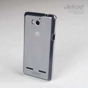 JEKOD TPU Ochranné Pouzdro White pro Huawei Ascend G510