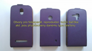 Flipové pouzdro Slim Flip Huawei Y530 fialové