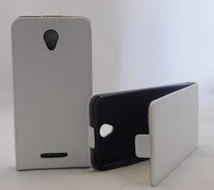 Pouzdro Forcell Slim Flip 2 flexi Lenovo A5000 Bílé