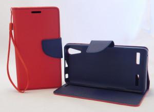 Pouzdro Fancy Book Lenovo A6000 A6010 červené