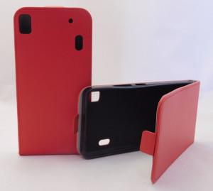 Pouzdro Forcell Slim Flip 2 flexi Lenovo A7000 K3 Note Červené