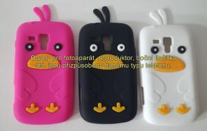 Silikonové pouzdro Bird Case pro Samsung i9300/i9301 Galaxy S3 černé