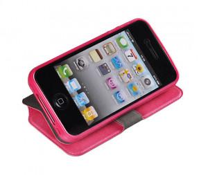 Pouzdro Book Flexi Pocket Samsung I9505 Galaxy S4 Růžové