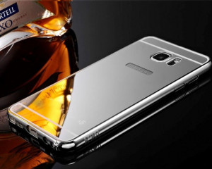 Pouzdro Bumper Mirror pro Huawei Ascend P8 Lite Stříbrné