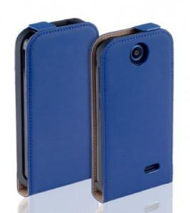 Pouzdro Forcell Slim Flip Flexi Microsoft Lumia 640 Tmavě modré