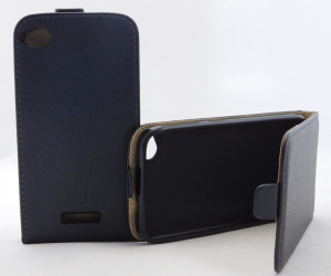 Pouzdro ForCell Slim Flip Flexi HTC Desire 320 černé