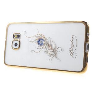 Pouzdro Diamonds TPU Samsung Galaxy S7 G930 Peříčko