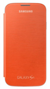 Samsung EF-FI950BOEG Orange flip pouzdro Galaxy S4
