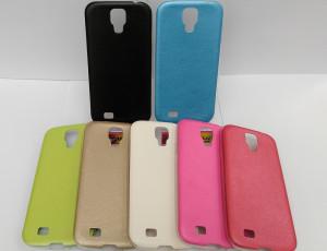 Pouzdro Jelly Case Leather pro Samsung Galaxy S4 i9505 Černé