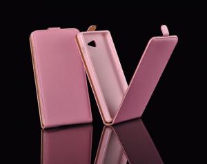 Pouzdro ForCell Slim Flip Flexi Nokia Lumia 630 635 růžové