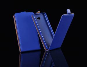 Pouzdro ForCell Slim Flip Flexi Nokia Lumia 630 635 Modré