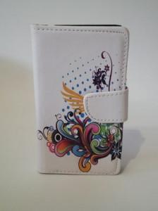 Pouzdro Flower Book Case White Samsung N9005 Galaxy Note 3