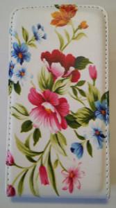 Pouzdro Slim Flip Case 2 Sony Xperia Z2 D6503 Flowers