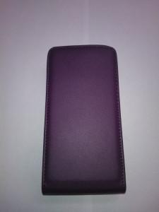 Pouzdro ForCell Slim flip Sony Xperia J ST26i fialové