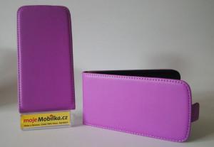 Pouzdro Slim Flip Case HTC One M8 Světle fialové