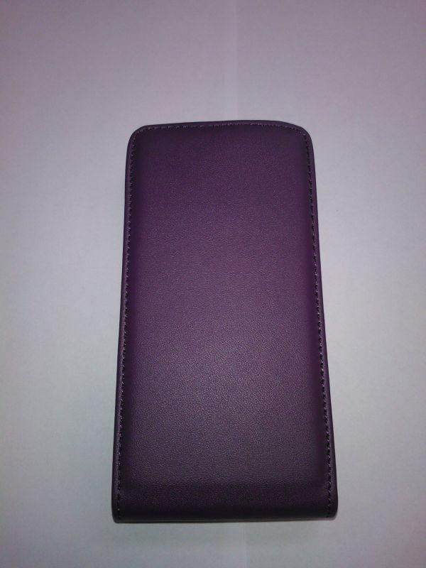 Pouzdro ForCell Slim flip Samsung I8200 Galaxy S3 mini VE fialové