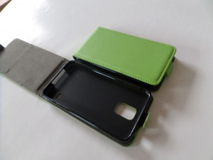 Pouzdro ForCell Slim flip flexi Microsoft Lumia 535 Zelené