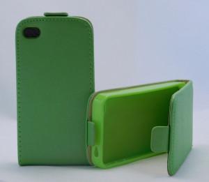 Pouzdro ForCell Slim Flip Flexi Iphone 4S Zelené