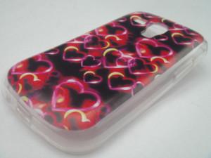 Pouzdro JELLY CASE Design Hearts pro Sony Xperia M2 D2303