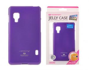 Pouzdro Goospery Mercury Jelly LG L7 II/P710 fialové
