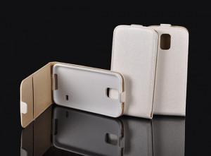 Pouzdro Forcell Slim Flip Flexi LG L90 D405 D410 Bílé