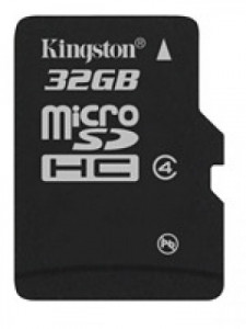 Kingston microSDHC 32GB Class 4 + adaptér SDC4/32GB
